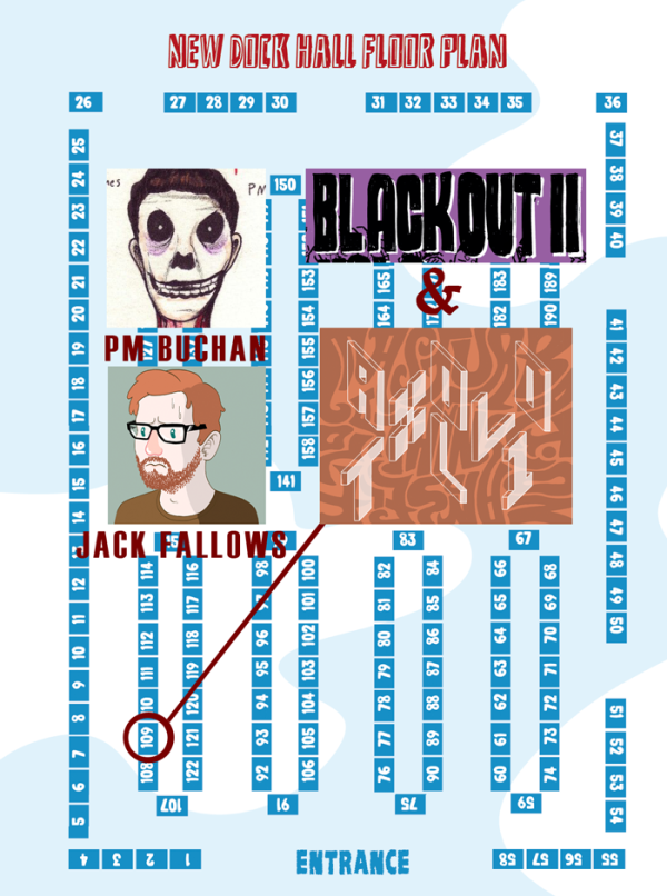 P M Buchan and Jack Fallows at Thought Bubble