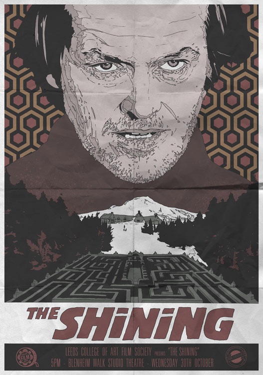 The Shining print by John Pearson. Not for CULT! His CULT pieces can currently be seen only at Orbital Comics.